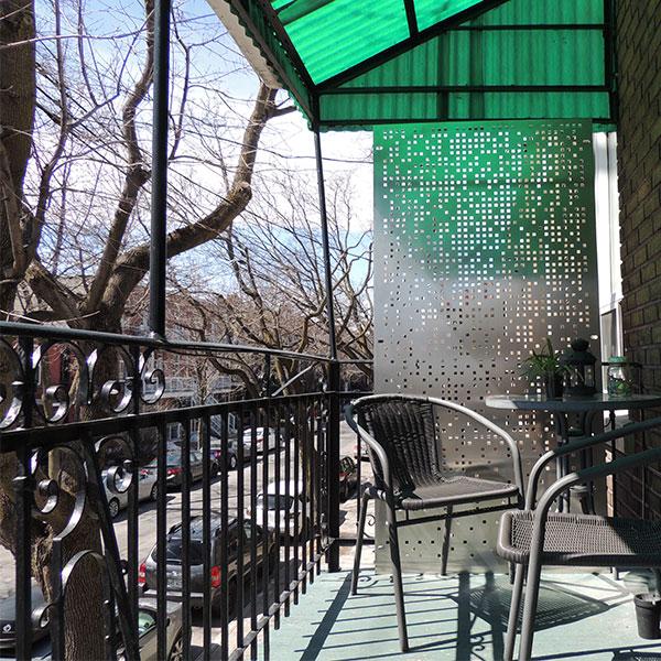 Cloison d 39 intimit pour balcon de ville mod le pixel - Balcon de ville ...